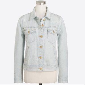 J. Crew Light Wash Denim Jacket Gold Buttons